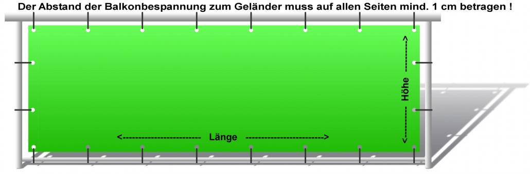 Balkonbespannung ausmessen